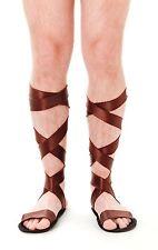 Roman Sandals Soldier Gladiator Warrior Egyptian Greek God Mens Fancy Dress