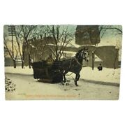 Canada Postcard - Carter's Sleigh on Dominion Square, Montreal/ Posted 1908 RARE