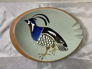 Stangl Potteryh Ceramic Hand Painted Quail Ashtray Sportsman Series