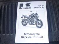 OEM 2009 Kawasaki ER650 ER6N D9F/D9F Service Shop Repair Manual 99924-1418-01