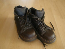 D&C1.1 Men's Espresso Brown Dr. Martens Leather Boots Size 7 Made in England