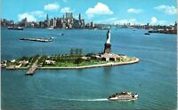 1960s Statue of Liberty Manhattan Skyline Circle Line Sightseeing NYC Postcard