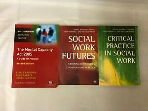 3x Social Work Books Critical Practice in Social Work Mental Capacity Act 2005
