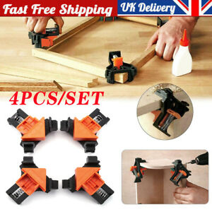 4Pcs Frame Corner Clamps Woodworking 90 Degrees Right Angle Clamp Clip Set