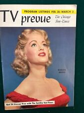 TV PREVUE Chicago Sun-Times digest February 26 1956 Marian Brash cover photo
