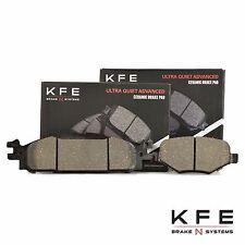 FRONT + REAR New Premium Ceramic Disc Brake Pad Set Plus Shims KFE1508 KFE1377