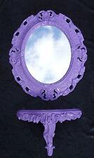 Espejo de pared + Consola OVALADO Set Barroco ROCOCO ANTIGUO 44x38 Púrpura 1