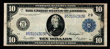 1914 $10  Large Size Federal Reserve Notes New York
