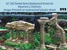 "15"" Tall Temple Ruins Background on Plastic Poster for Aquarium / Vivarium 092"