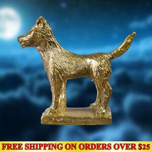 Lucky Dog Best Friend Hunting Money Thai Amulet Powerful Holy Brass Talisman FS