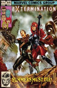 EXTERMINATION #4 Mark Brooks Altered Art Variant Marvel Comics 1st Print New NM