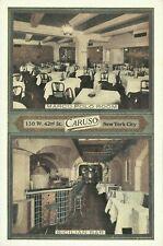 Caruso Restaurant Interior Marco Polo Room Sicialian Bar Lumitone NYC Postcard