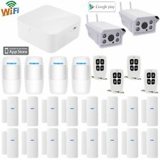 P19 APP Cloud WiFi Wireless House Home Security Alarm System+Ooutdoor IP Camera