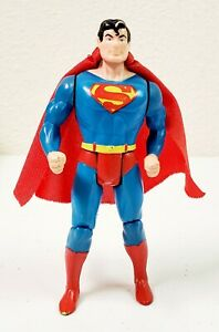 """Vintage 1984 Kenner DC Super Powers Superman Loose 4"""" Action Figure with Cape"""