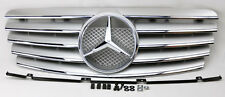 Mercedes CLK Class W208 98-03 5 Fin Front Hood Sport Silver Chrome Grill Grille