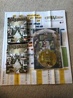 Sid Meier's Civilization IV With Tech Tree And Large Book Manual PC Big Box Game