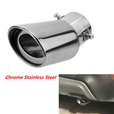1Pc Car Round Exhaust Muffler Tip Stainless Steel Pipe Modified Rear Tail Throat