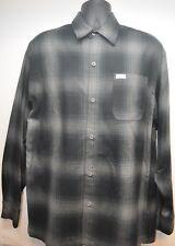 CalTop Old School Plaid Flannel Long Sleeve OG Veterano Biker Button Up Shirt