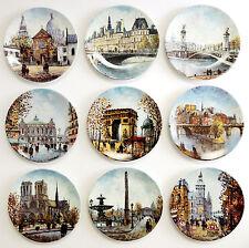 D'Arceau Limoges Scenes Of Paris Porcelain Plates Louis Dali Lot Of 9