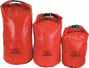 HUGE 45L DRY BAG WATERPROOF Bright Orange Tough camping sack sailing trek pouch