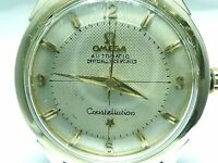 OMEGA Constellation 14K GOLD-SS PIE-PAN Ref 2852-1 Cal 505 AUTOMATIC MENS Watch