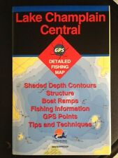 NY STATE FISHING HOT SPOTS FISHING MAPS USED LAKE CHAMPLAIN CENTRAL