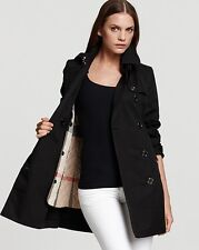 Burberry Brit Balmoral Classic  Trench Coat Jacket size 4 (EU38) $995 NEW