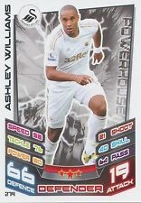 N°274 ASHLEY WILLIAMS SWANSEA CITY.FC TRADING CARD MATCH ATTAX TOPPS 2013