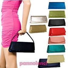 Tasche Frau Clutchbag Handbag Satin Baguette Mehrere Farben Clutch Bag 89314