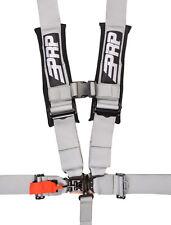 "PRP 5 Point Harness 3"" Pads Seat Belt SINGLE SILVER Polaris RZR XP Turbo 1000"
