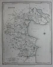 Original antique county map IRELAND, LOUTH, Lewis, Creighton, Dower, 1837
