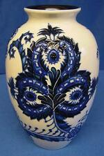 OLD TUPTON WARE BLUE & WHITE SAPPHIRE TUBELINED PORCELAIN OVOID SHAPED VASE 1260