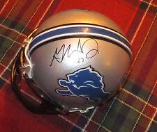 GLOVER QUIN Lions Autographed Mini Helmet including BDS COA #2452