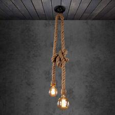 Vintage Hanfseil Hängelampe Deckenleuchte Lampe Bar Cafe Leuchte E27