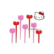 Bento Box Accessory Food Pick Hello Kitty 10 pcs