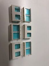LEGO Lot of (6) 61345 ~ 1x4x2 Walls Panels 2 Windows White With Panes Trains