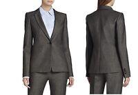BCBG MAXAZRIA Women's Gray Hugh Single-Button Jacket Sz S, M , L NWT MSRP $278