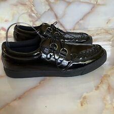 T.U.K. Mens Black Glossy Creeper Sneakers Shoes Sz US 10 EU 43