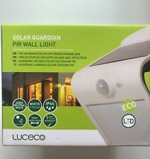Luceco Solar Guardian Wall Light With PIR White IP44 - No Wiring Required