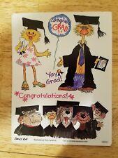 Suzy's Zoo Congrats Grad Congratulations Stickers #9859 - 5 Sheets NEW