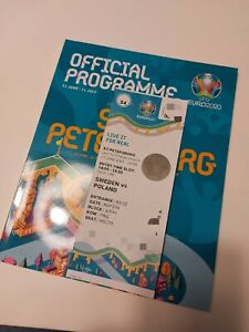 Ticket UEFA EURO 2020 Poland VS Sweden, Match 34, Mint, For collectioners only