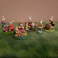 Vintage Easter Village 5 piece set