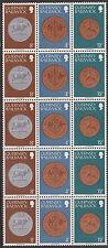 (T7-32) 1979 Guernsey 15block coins mixed values mint