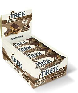 TREK High Protein Flapjack Cocoa Oat, 50 g - Gluten Free Bars Healthy Snack ✅
