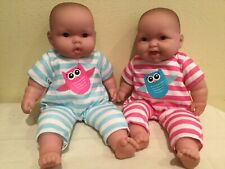 Berenguer Baby Twins, Original Clothes, Vinyl And Cloth, 14 Inches, Play, Reborn