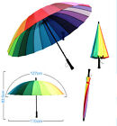 Multicolour Windproof Rainbow Sun Umbrella Rain Parasol Wedding Party Decor