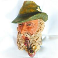 Vintage Bossons England Chalkware Wall Hanging Tyrolean Man 1972 Hand Painted