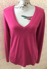 Next Pink V Neck Long Sleeve Jumper Size 14