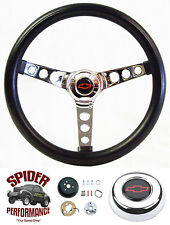 "1962-1963 Chevy 2 Nova steering wheel BOWTIE 13 1/2"" CLASSIC CHROME"