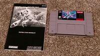 Mega Man X 1 - Super Nintendo SNES Video Game & Instruction Manual lot TESTED!!!